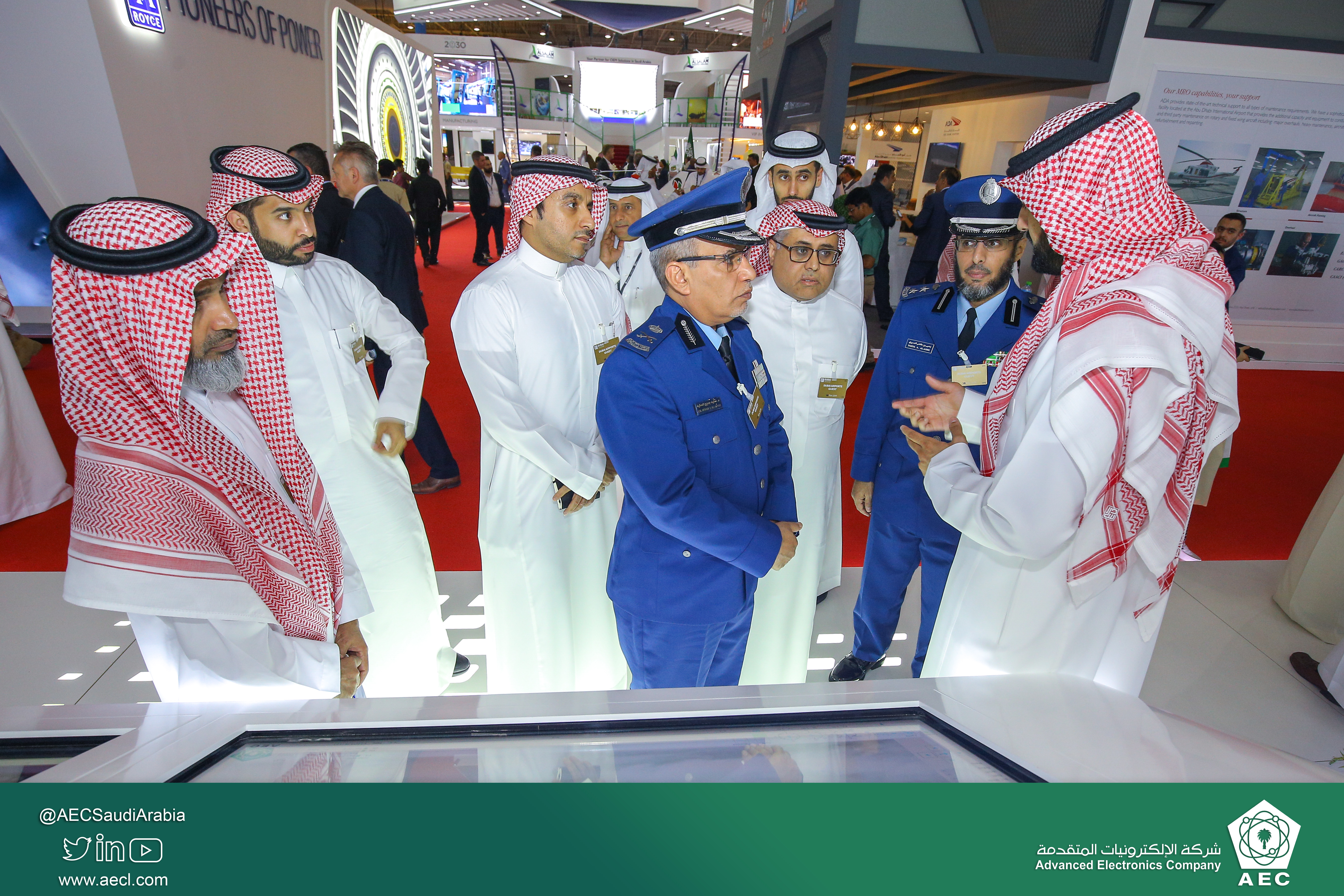 AEC's VIP visit for the second day at Dubai Airshow